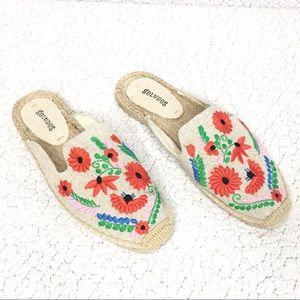 Soludos - Floral Embroidered Espadrille Slides